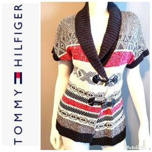 Tommy Hilfiger Toggle Frobt Short Sleeve Sweater